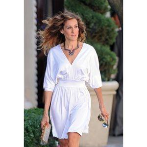 Halston Carrie Bradshaw white mini dress size 0